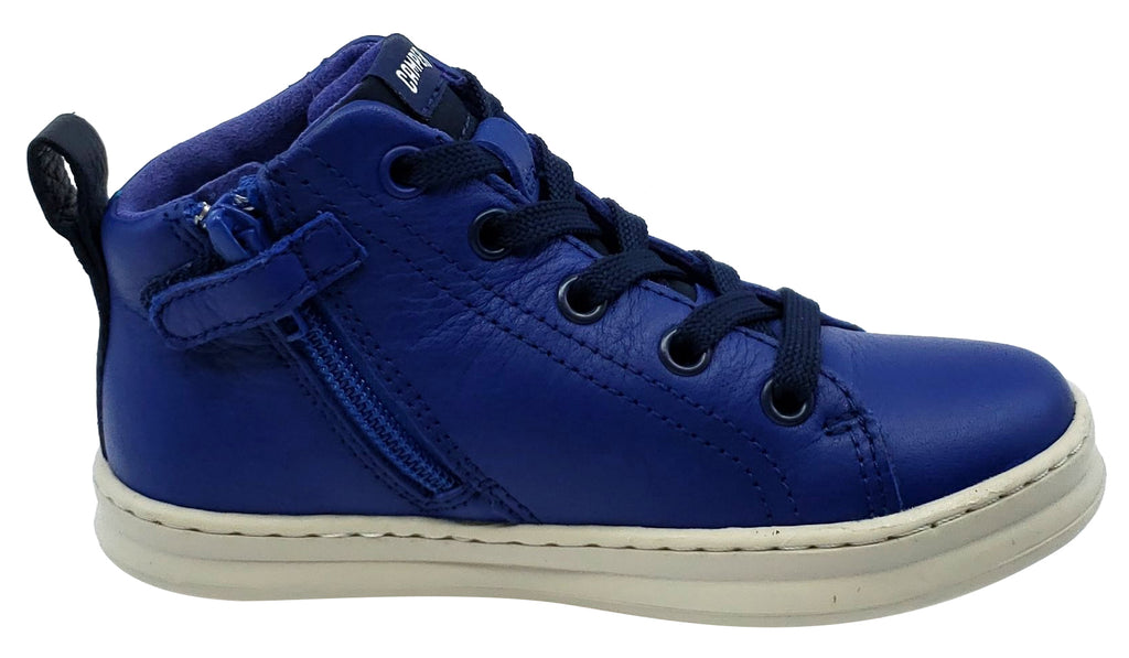 Camper Runner Four Trueno Leather Hightop Laces Blue Junior for Boy's