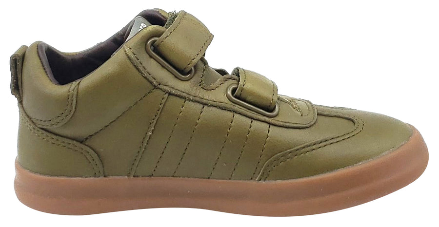 Camper Pursuit Sneaker Green Leather Hook and Loop for Boy's