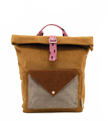 Sticky Lemon Corduroy Collection Large Backpack, Dijon/Ginger Bread/Bubbly Pink