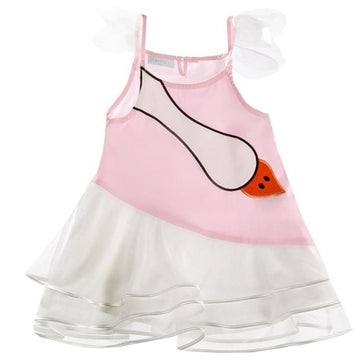 FUN & FUN Girl's NDR3245 Duck Dress - Multi