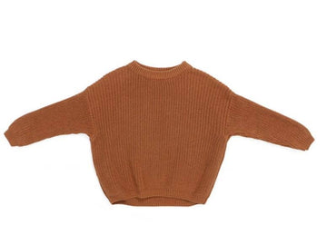 OMAMImini Oversized Cotton Sweater - Rust