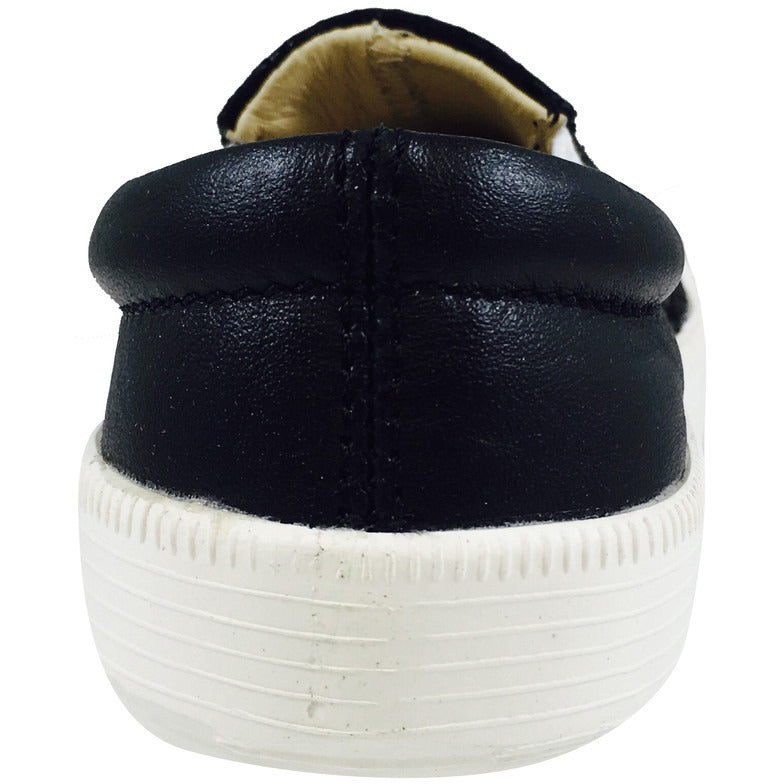 Old Soles 1051 Girl's and Boy's Black Snake Leather Slip On Sneaker - Just Shoes for Kids  - 5
