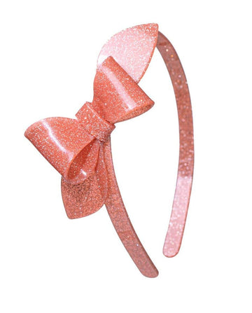 Lilies & Roses NY Coral Rosanne Big Bow Headband