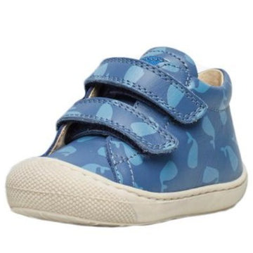 Naturino Boy's & Girl's Cocoon Vl Whale Printed Sneakers - Azure/Light Blue