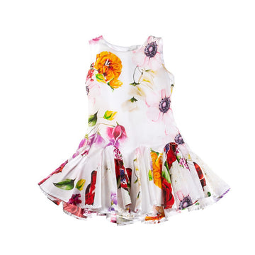 FUN & FUN Girl's BDR3386 Floral Dress - Multi