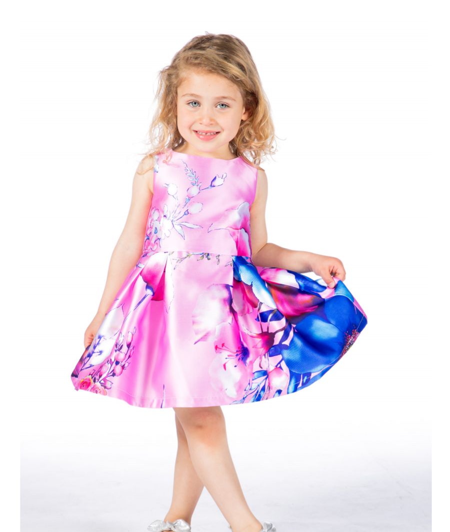 FUN & FUN Girl's BDR3164 Floral Dress - Multi