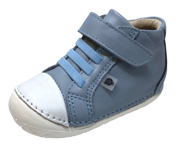 Old Soles Boy's and Girl's 4064 High Pop Shoes - Dusty Blue/Snow
