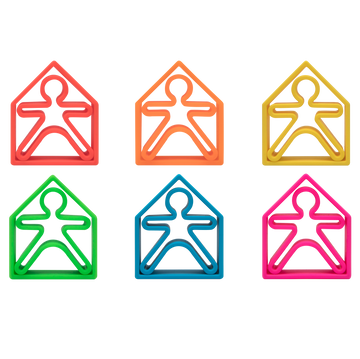 dëna Neon Kids and Houses 6 Pack - Assorted Colors