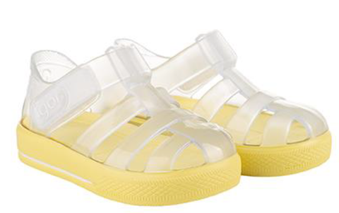 Igor S10245 Girl's and Boy's Star Brillo Sandal - Transperente Amarillo
