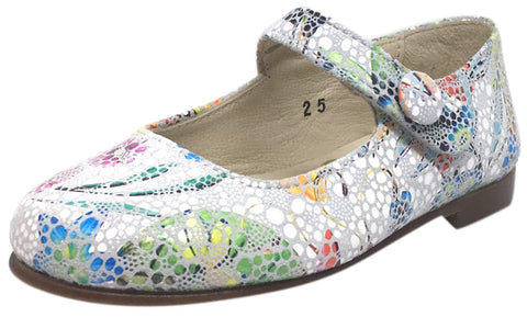 Chupetin 4423 Floral Print Hook and Loop Strap Mary Jane Flat Shoes