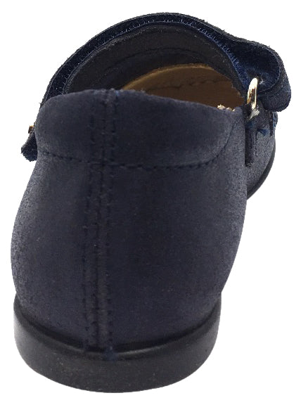 Naturino Girl's 9201 Navy Glitter Buckle Upper Classic Buckle Strap Mary Jane Flats