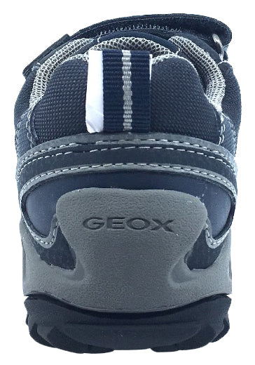GEOX Boy's Savage Hook and Loop Sneaker (Navy/Grey)