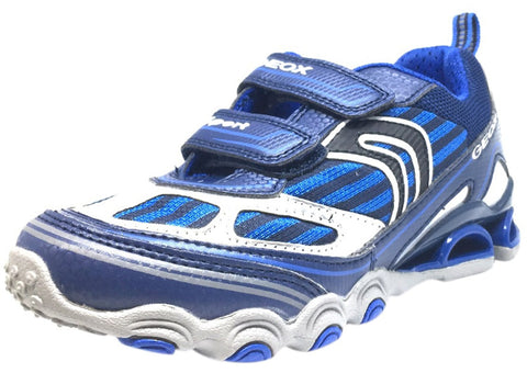Geox Boy's Tornado Navy & Royal Blue Double Hook and Loop Strap Sneaker