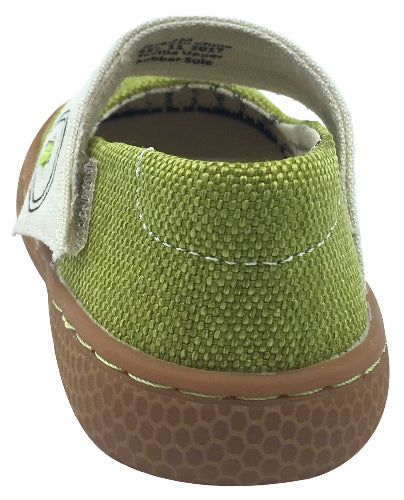 Livie & Luca Girl's Carta II Lime Green Textile Casual Mary Jane Flat Shoes