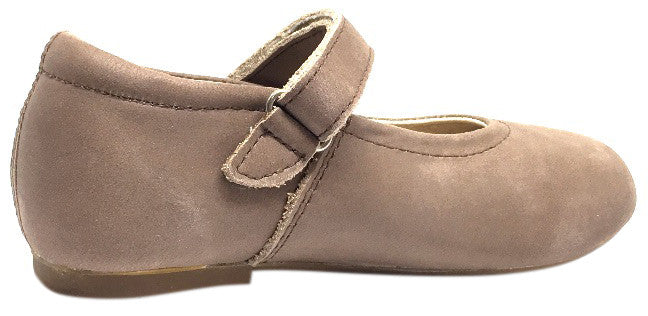 Old Soles Girl's 800 Distressed Coffee Praline Flat