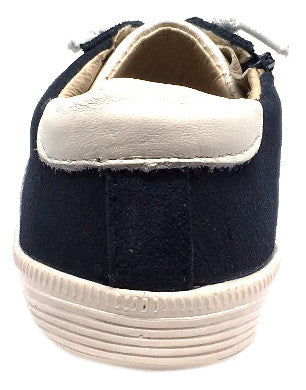 Old Soles Boy's and Girl's Vintage Runner Slip On Stretch Lace Sneakers, Navy - Just Shoes for Kids  - 3