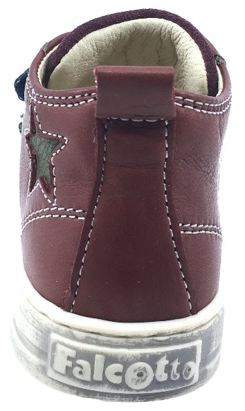 Naturino Falcotto Boy's and Girl's Toddler Hal Star Sneaker High-Top Tennis Shoes (Brick Red)