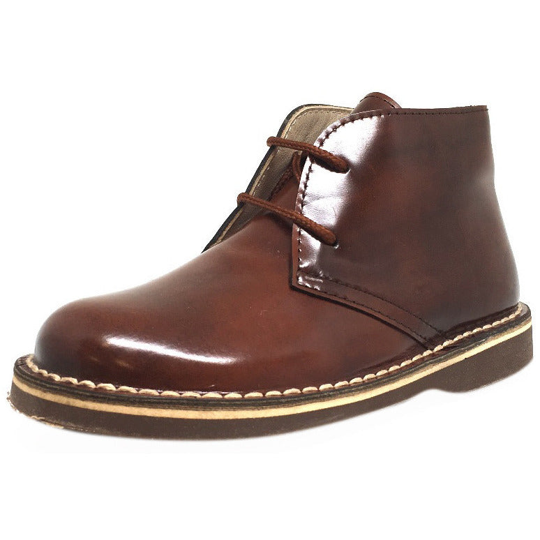Chupetin Boy's and Girl's 6495 Chestnut Brown Leather Laced Chukka Boot