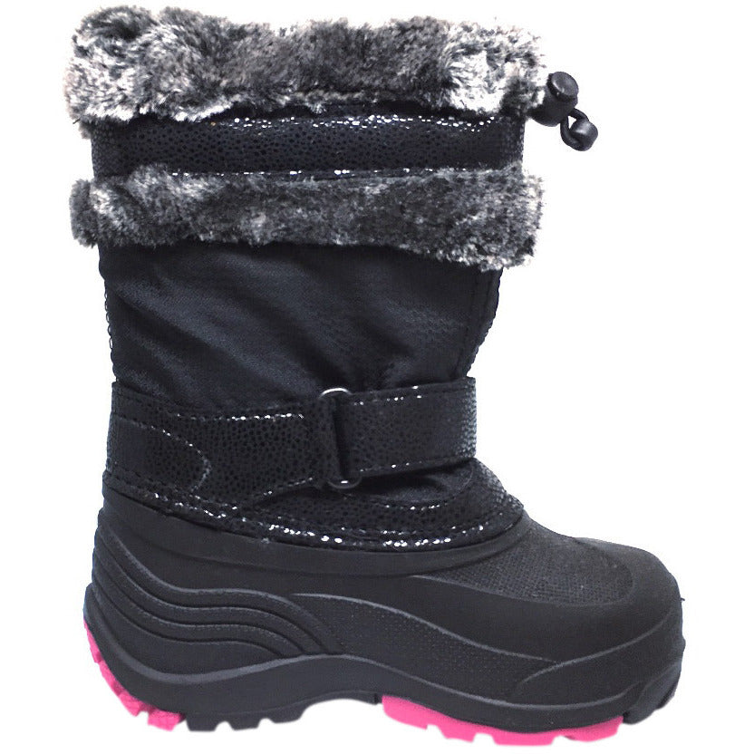 Kamik Plume Kid's Faux Fur Lined Waterproof Snow Protection Warm Winter Snow Boots inches - Just Shoes for Kids  - 4