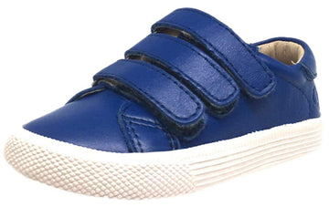 Old Soles Boy's & Girl's Urban Markert Cobalt Blue Leather Sneakers