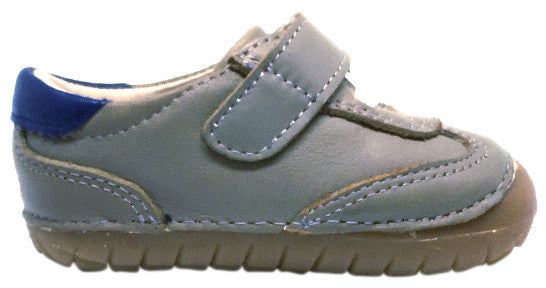 Old Soles 4011 Boy's Sporty Pave Grey/Denim Leather Slip On Sneaker