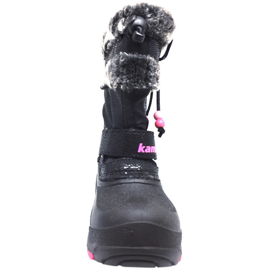 Kamik Plume Kid's Faux Fur Lined Waterproof Snow Protection Warm Winter Snow Boots inches - Just Shoes for Kids  - 5