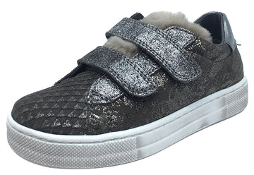 Naturino Girl's Gunmetal Funky Sneakers Tennis Shoes