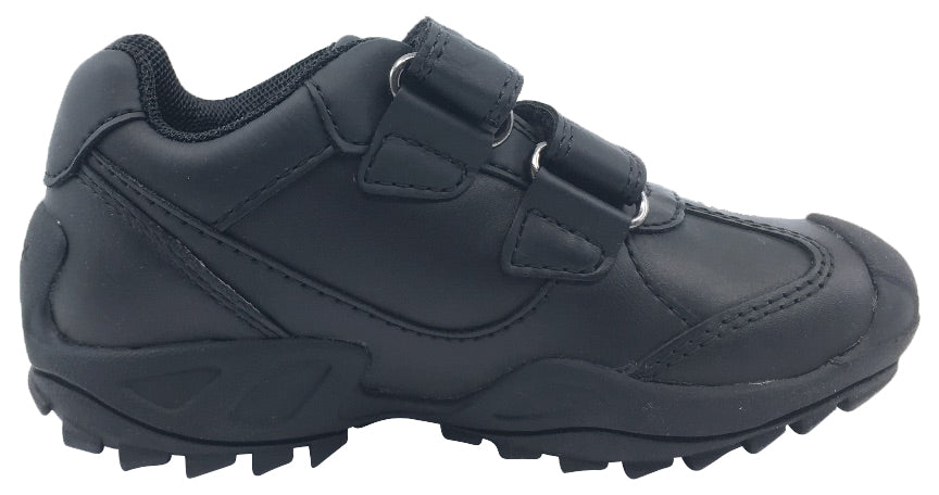 GEOX Boy's Savage Velcro Sneaker Tennis Shoes (Black)