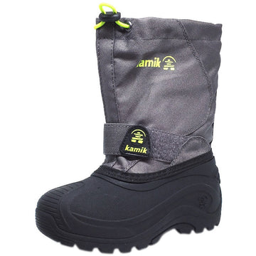 Kamik Boy's Snowbound Waterproof Snow Warm Lined Winter Boots, Grey
