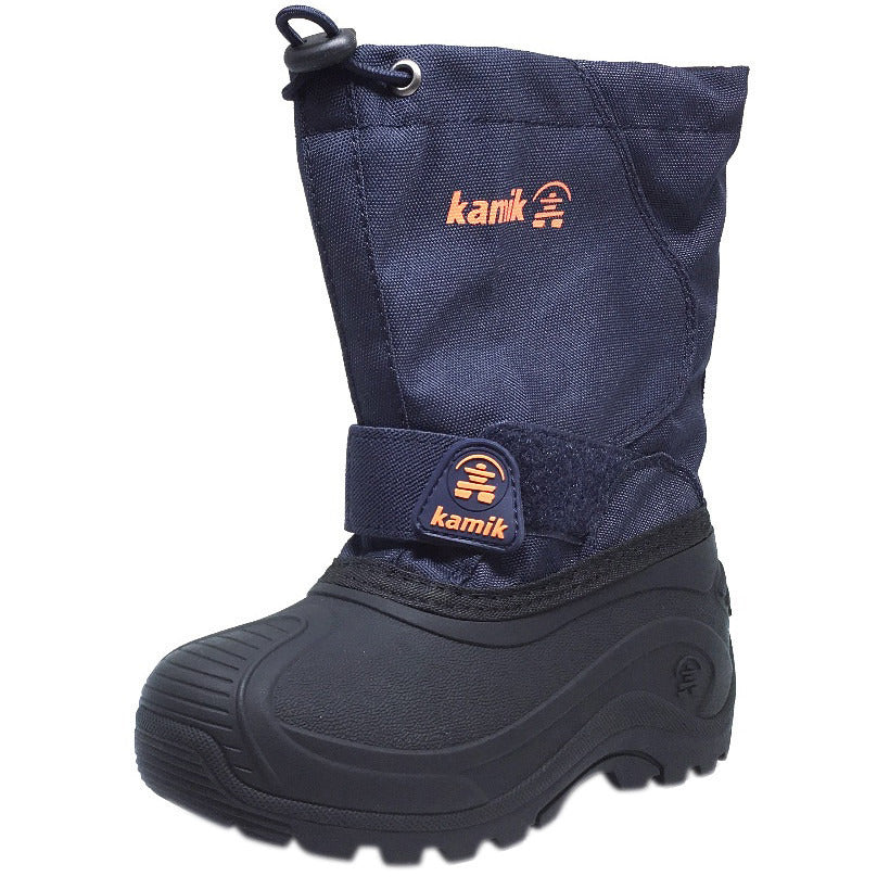 Kamik Boy's Snowbound Waterproof Snow Warm Lined Winter Boots, Navy