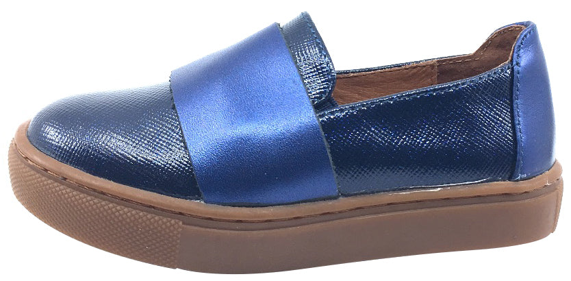 Venettini Girl's Navy Metallic Layla Slip-On Sneaker