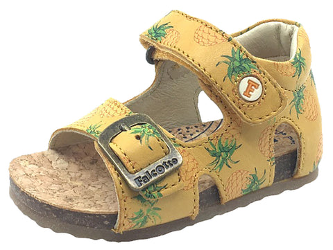 Naturino Falcotto Girl's & Boy's Pineapple Tropical Print Sandals with Hook and Loop Strap