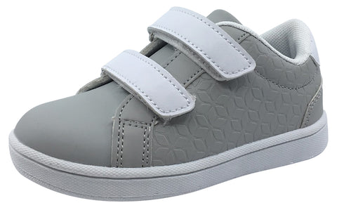 My Brooklyn The Original Boy's and Girl's Sneaker in Grey with White Double Straps