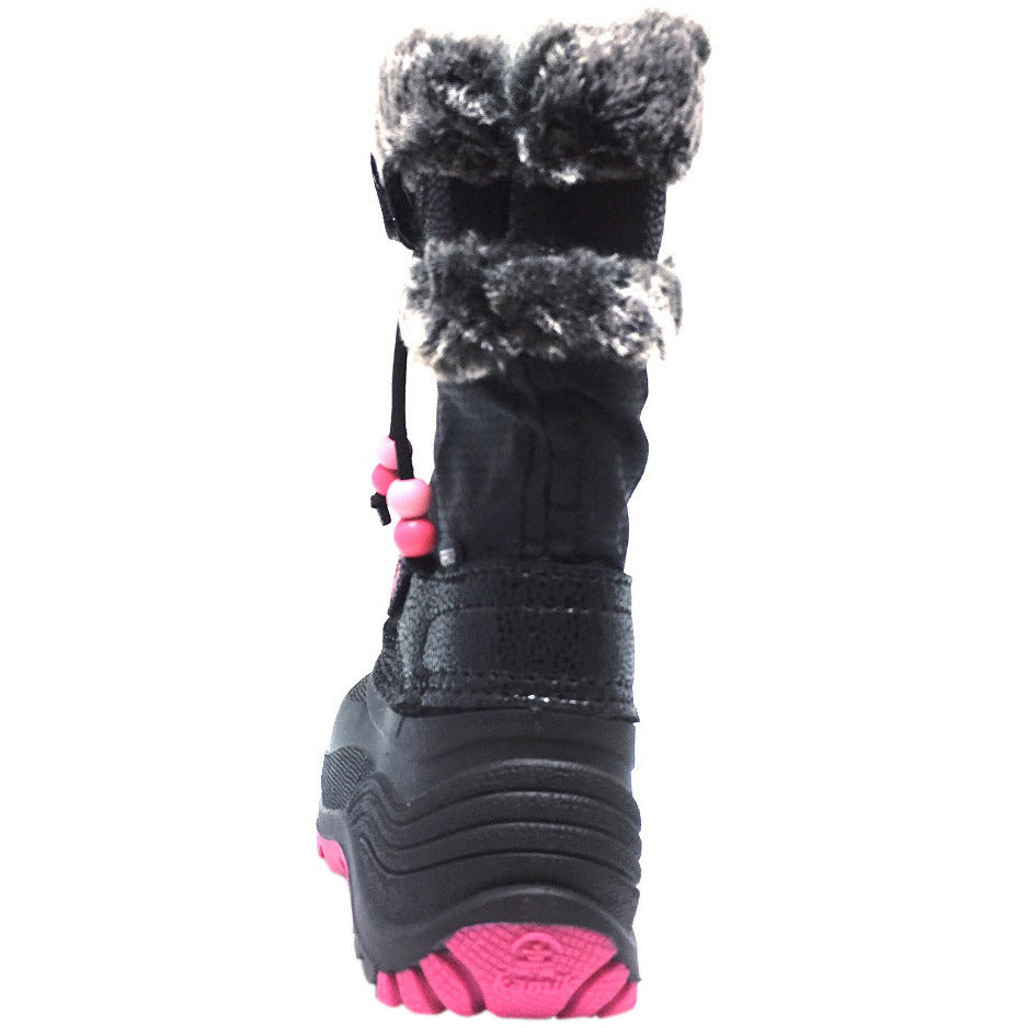 Kamik Plume Kid's Faux Fur Lined Waterproof Snow Protection Warm Winter Snow Boots inches - Just Shoes for Kids  - 3