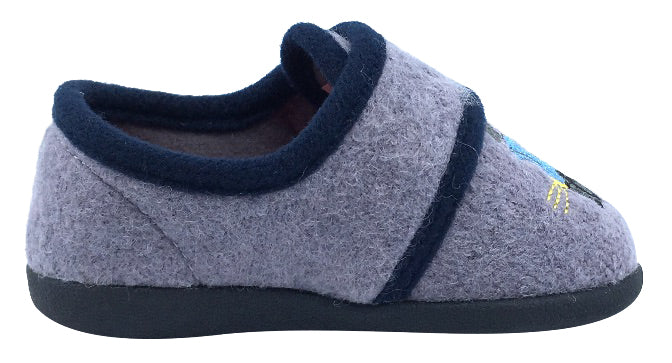 Foamtreads Boy's and Girl's Comfie Slipper, Grey