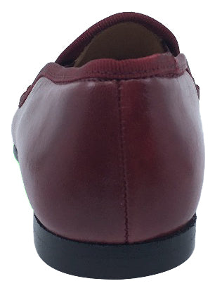 Hoo Shoes Smoking Loafer, Burgundy