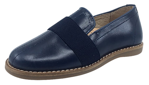 Hoo Shoes  Boy's and Girl's Loafer, Navy Blue