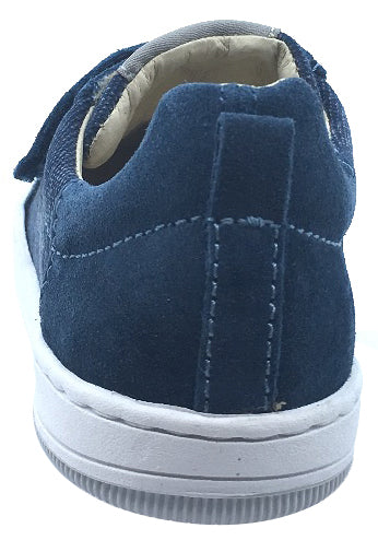 Naturino Boy's & Girl's Contrasting Denim Suede Double Strap Low Top Casual Sneaker Shoe