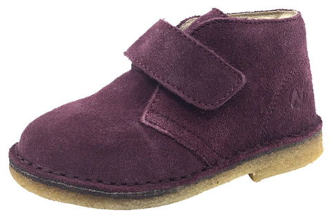 Naturino Boy's and Girl's Chukka Desert Boot, Burgundy Suede