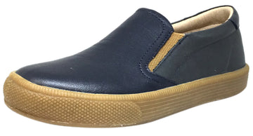 Old Soles Boy's 1029 Dress Hoff Leather Distressed Navy Loafers Shoe