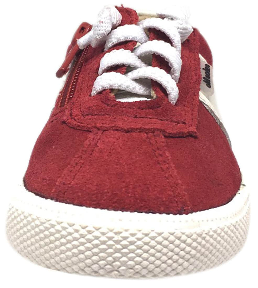 Old Soles Boy's and Girl's True Red Vintage Runner Slip On Stretch Lace Sneakers