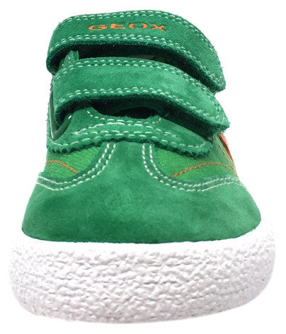 Geox Respira Boy's Suede and Canvas Double Hook and Loop Skater Sneaker Shoes inches - Just Shoes for Kids  - 5