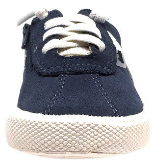 Old Soles Boy's and Girl's Vintage Runner Slip On Stretch Lace Sneakers, Navy - Just Shoes for Kids  - 5