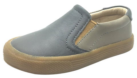 Old Soles Boy's 1029 Dress Hoff Elephant Grey Leather Loafers Shoe