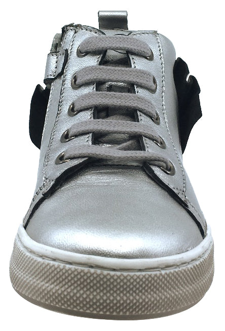 Naturino Girl's Rap Sneakers Tennis Shoes, Silver