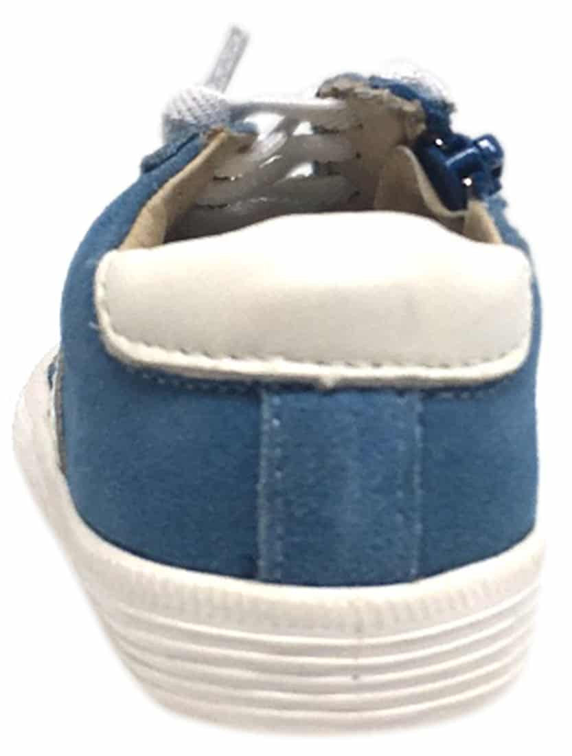 Old Soles Boy's and Girl's Royal Blue Vintage Runner Slip On Stretch Lace Sneakers