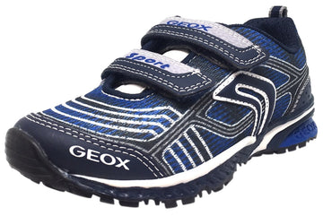 Geox Boy's Bernie Navy & Royal Blue Double Hook and Loop Strap Sneaker