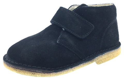 Naturino Boy's and Girl's Chukka Desert Boot, Black Suede