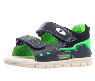 Naturino Falcotto Knik Sandals - Navy Verde Fluo