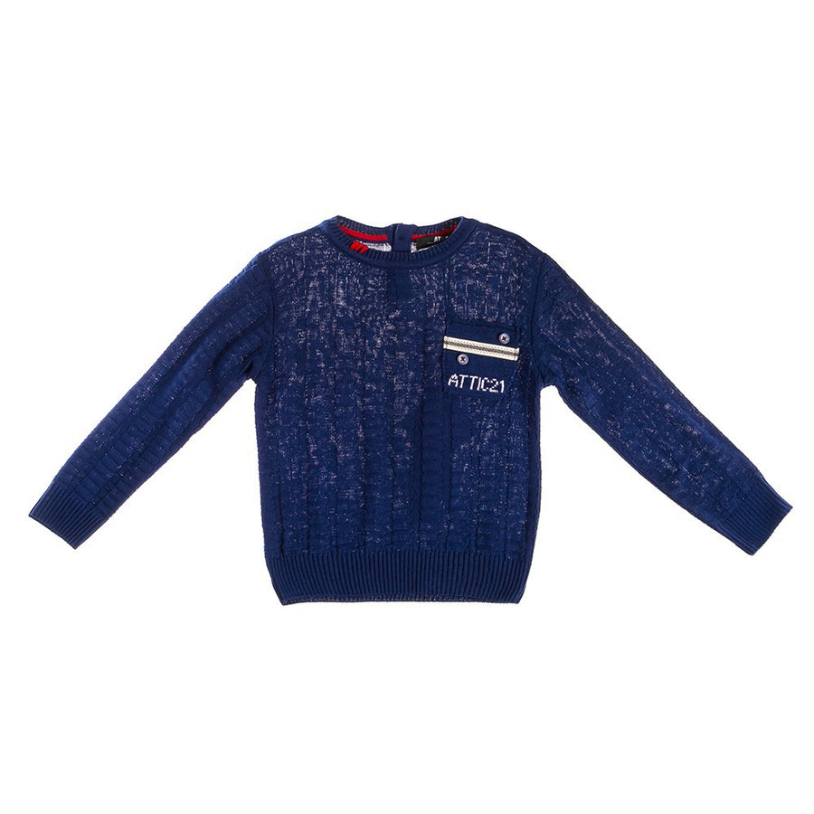 Attic 21 Boy's NSW4294 Sweater - Blue